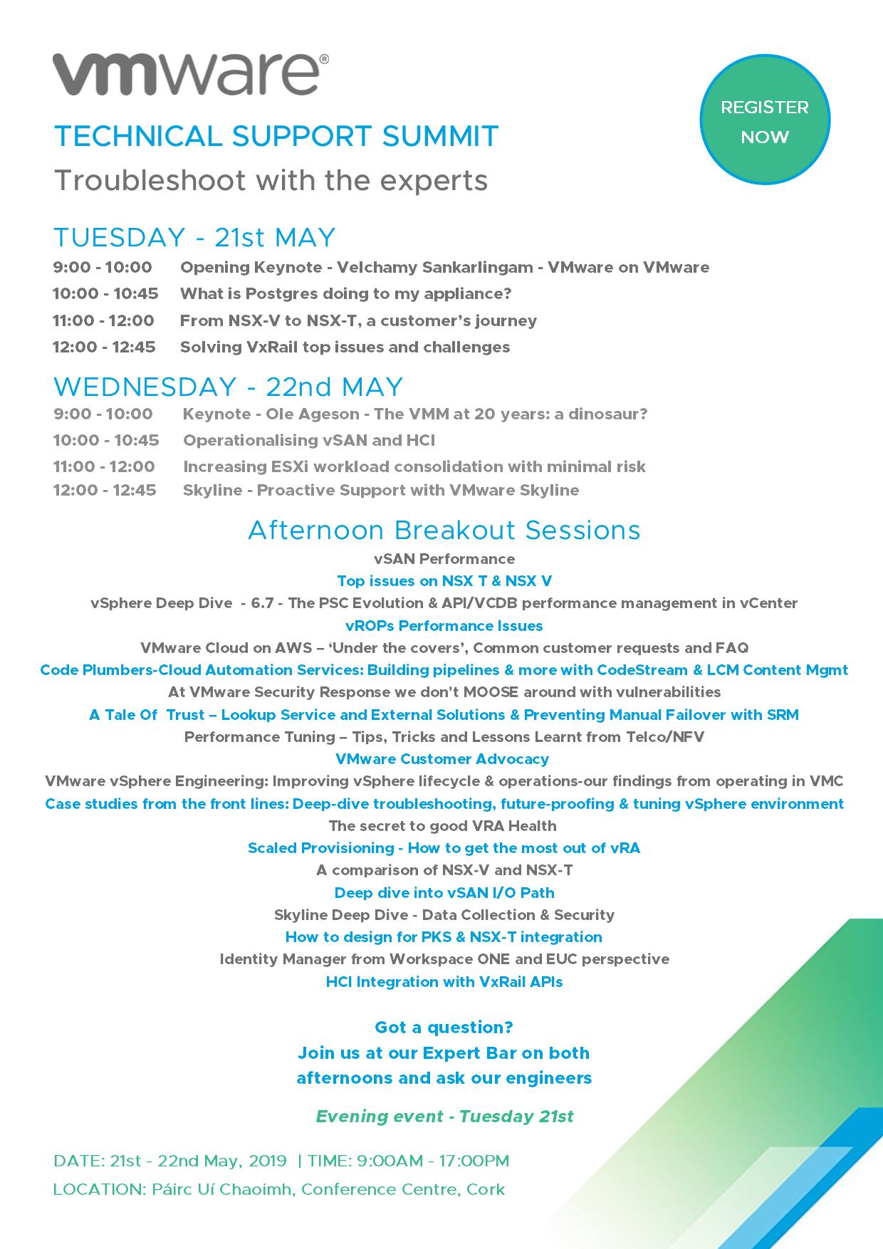 Tech Support Summit 2019 - Agenda v2